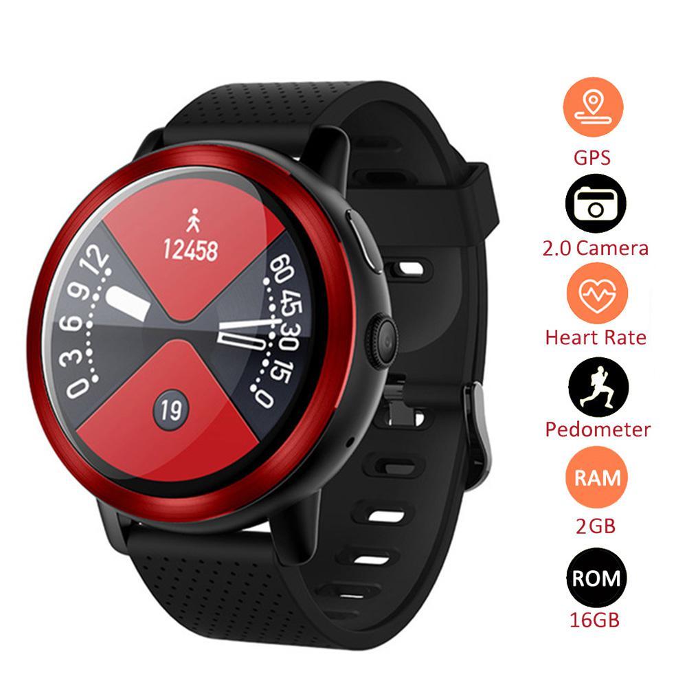 Per LEMFO LEM8 Astuto di GPS Della Vigilanza 4G 2 GB 16 GB E 2MP WiFi Della Macchina Fotografica Barometrica Altezza Monitor di Cuore tester di tasso di Smartwatch Smart Phone Orologio