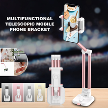High Quality 360 Degree Strong Sucker Lazy Bed Desktop Stand Car Mount Foldable Cell Phone Holder For Smart Desk