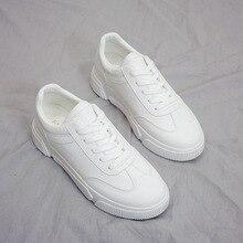 Woman White Shoes Platform New Spring Joker Flat Bottom Korean Fashion Motion Sneakers Tenis Feminino Zapatos De Mujer Student