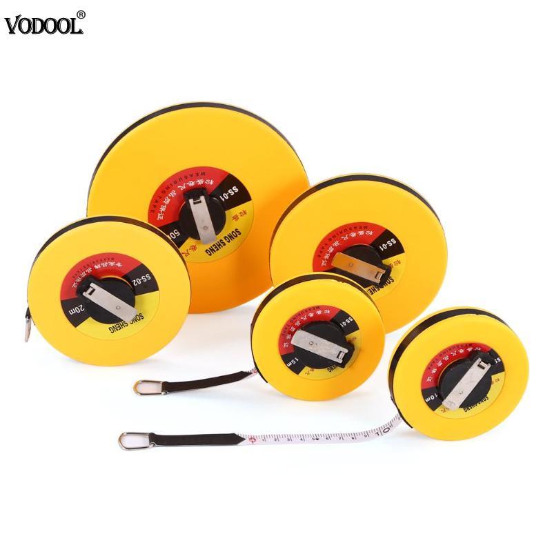 10/15/20/30/50m Hand Disc Flexible Ruler Measuring Tool Fiber Engineering Measuring Tape Hand Tools For Engineering Measuring
