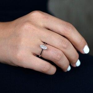 Image 5 - Pansysen 100% Authentieke 925 Sterling Zilver Mariquesa Vorm Natuurlijke Amethist Ringen Voor Vrouwen Wedding Anniversary Gemstone Ring