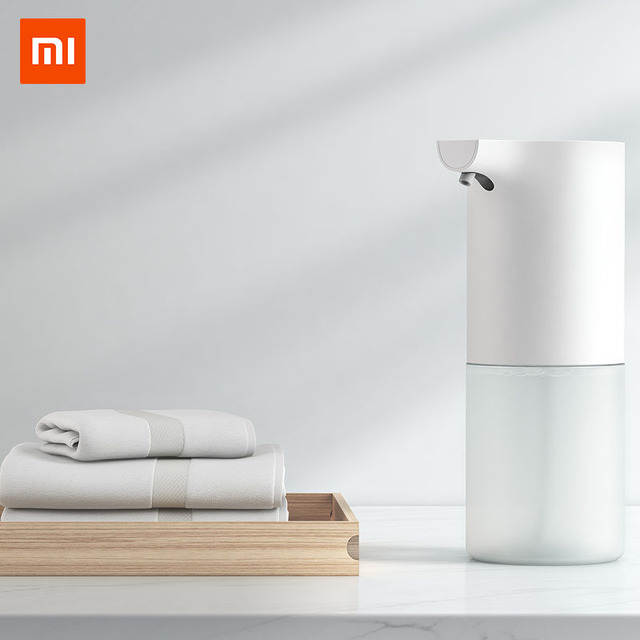 Xiaomi Mijia 320ml Automatic Soap Dispenser Powere by AA Battery Antibacterial Hand Sanitizer Cleaning Hand for Bathroom Kitchen