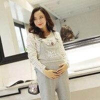 Maternity Dress Pregnant Women Jumpsuit Fashion Comfortable Stomach Lift Pregnancy Pants Large Size Letters Maternity Pants
