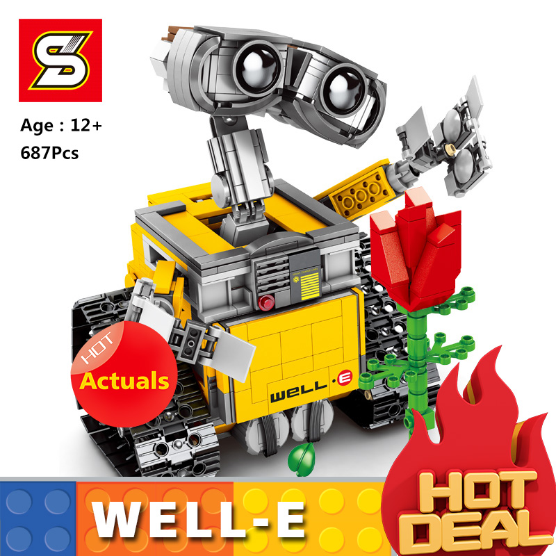 Idea SY 7007 Robot WALL E <font><b>21303</b></font> Model SET Self-Locking Building Bricks Blocks Compatible <font><b>legoingLYS</b></font> 16003 for kid Birthday Gifs image