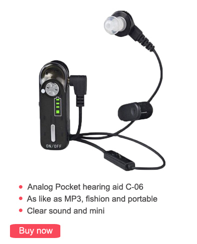 USB Rechargeable Pocket Hearing Aid Ear Aids for the Elderly Digital Wireless Super Power Amplifiers for Severe Profound C 06