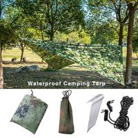 3x3m Waterproof Sun Shelter Awning Tent Tarp Outdoor Camping Hammock Rain Fly Anti UV Beach Tent Shade Camping Sunshade Canopy