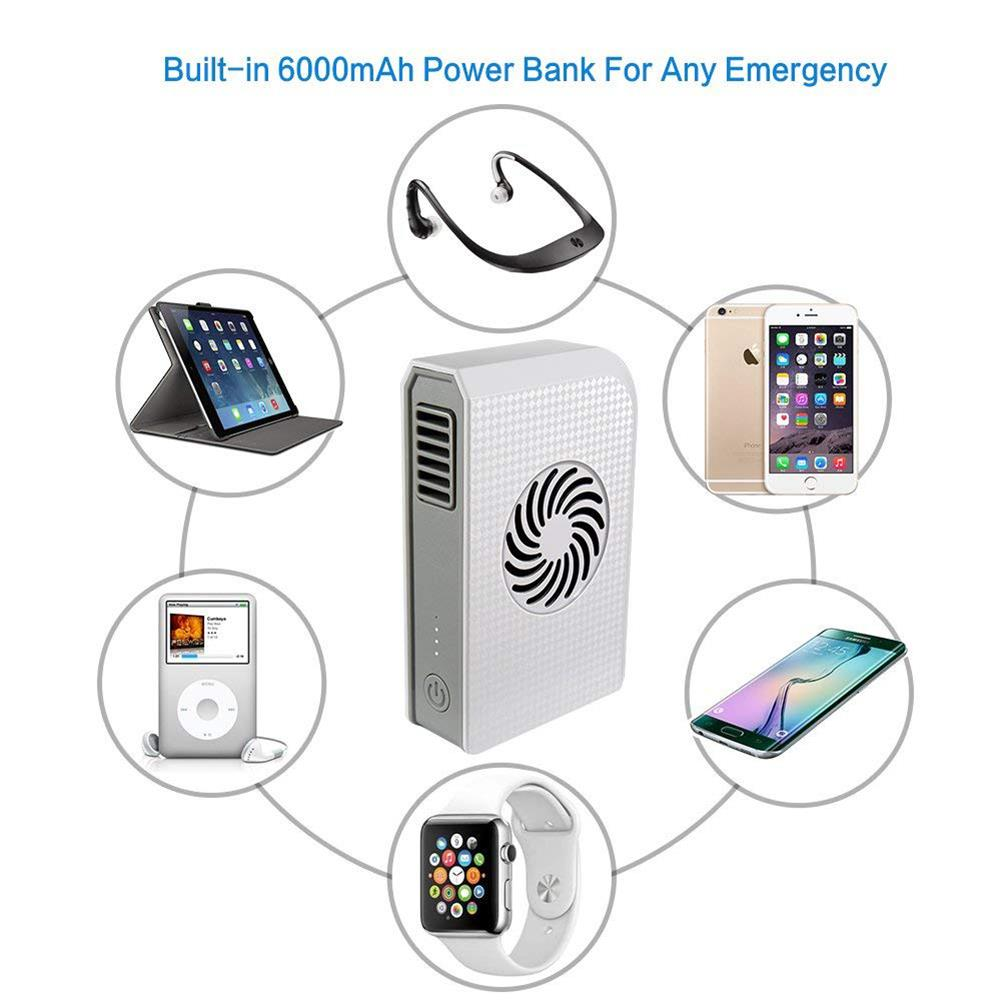 Small Personal Fan with 6000mAh Power bank Mini Handheld USB Desk Fan with Portable Charger Best using in Travel School office