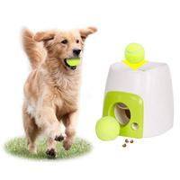 Food Reward Machine Dogs With Tennis Ball Interactive Fetch Treat Pet Ball Play Toy Game IQ Training