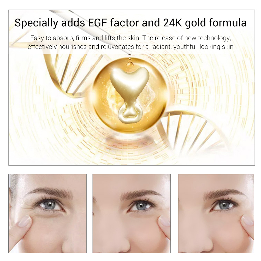Lanbena 24k Gold Peptide Wrinkles Face Ampoule Capsule Facial Cream Acne Skin Whitening Serum Anti aging Lifting Firming 5 Grain in Serum from Beauty Health