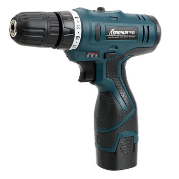 LONGYUN Cordless Electric Power Drill with Lithium Battery for Wall and Wood Drilling