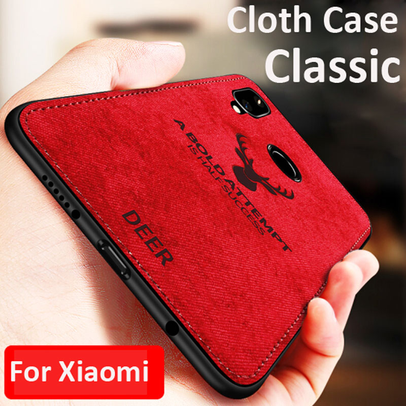 Luxury Classic Cloth Case For Redmi 7 Note 7 6 5 Pro Phone Case Soft Cover For Xiaomi mi9 9SE Shockproof Silicone Full Capa Case