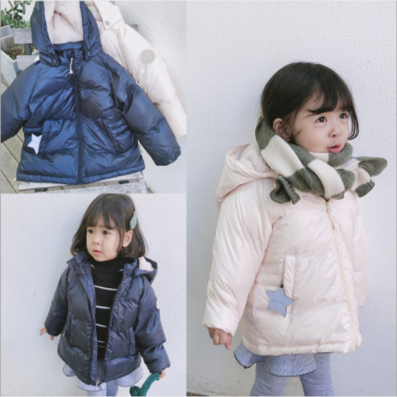 Kids Down Jacket 2018 Winter Mat Boys Girls Cute Thicken Hoodies Coat Baby Children Warm Windproof Outwear Tops Fashion Clothes baby boys girls jackets 2018 new winter fashion fur collar jacket kids warm hoodies children outwear kids coat boys girl clothes
