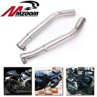 For Suzuki Hayabusa GSX1300R 2008 2015 Motorcycle Slip On Connector Link Pipe Motorbike Modified Exhaust Muffler Middle Pipe