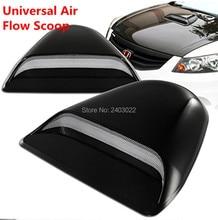 Universal Racing Style Decorative Hood Scoop Smoke Black Sport Air Flow Intake Vent Cover