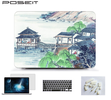 цена 2018 NEW Print Laptop Hard Case Cover for Apple Macbook Pro Retina 12 13 15 inch for Macbook Air 11 13 15Touch Bar A1989/A1990 онлайн в 2017 году