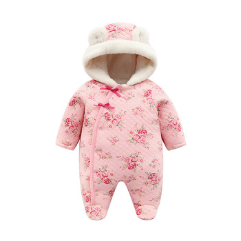 new born baby girl winter clothes 6m cute set romper baby fleece winter thick warm baby rompers newborn cotton coveralls 3 month 1
