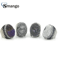 5Pieces,Women Fashion Jewelry, Natural Rhinestone Rings 4Colors, Can Mix Color  Wholesale