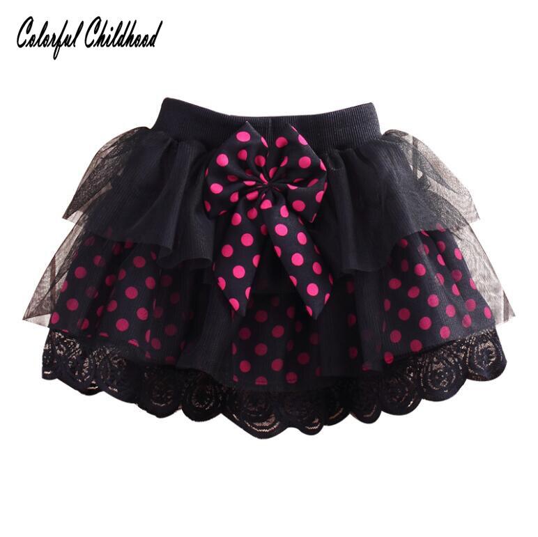 Cute polka dot mesh tutu skirt for girls party wedding Pettiskirt toddler girls skirt summer girls clothes 2-8Yrs