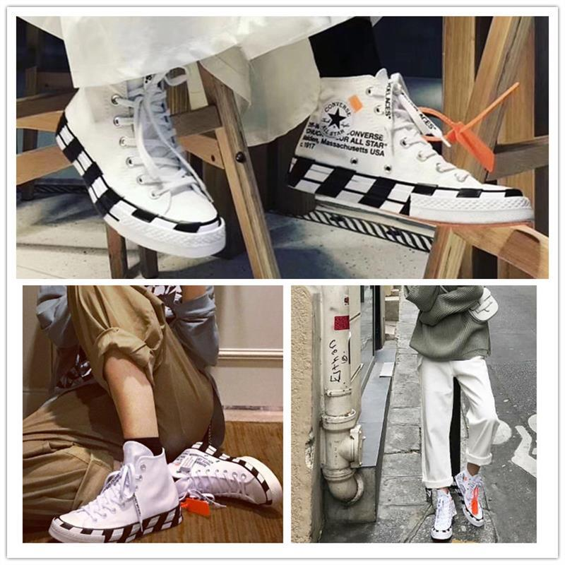 ce2c10736f21 Off white X CONVERSE CHUCK TAYLOR ALL STAR 2.0 Ow men women shoes Black And  White Yin yang chess shoes Canvas Shoes 163862c-in Skateboarding from  Sports ...