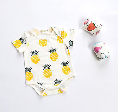 Rompers Boys' Baby Clothing Useful Emmababy Newborn Baby Boy Girl Fruit Romper Jumpsuit Pajamas Outfit Clothes Short Sleeve Pineapple Summer Cotton Toddler Kid
