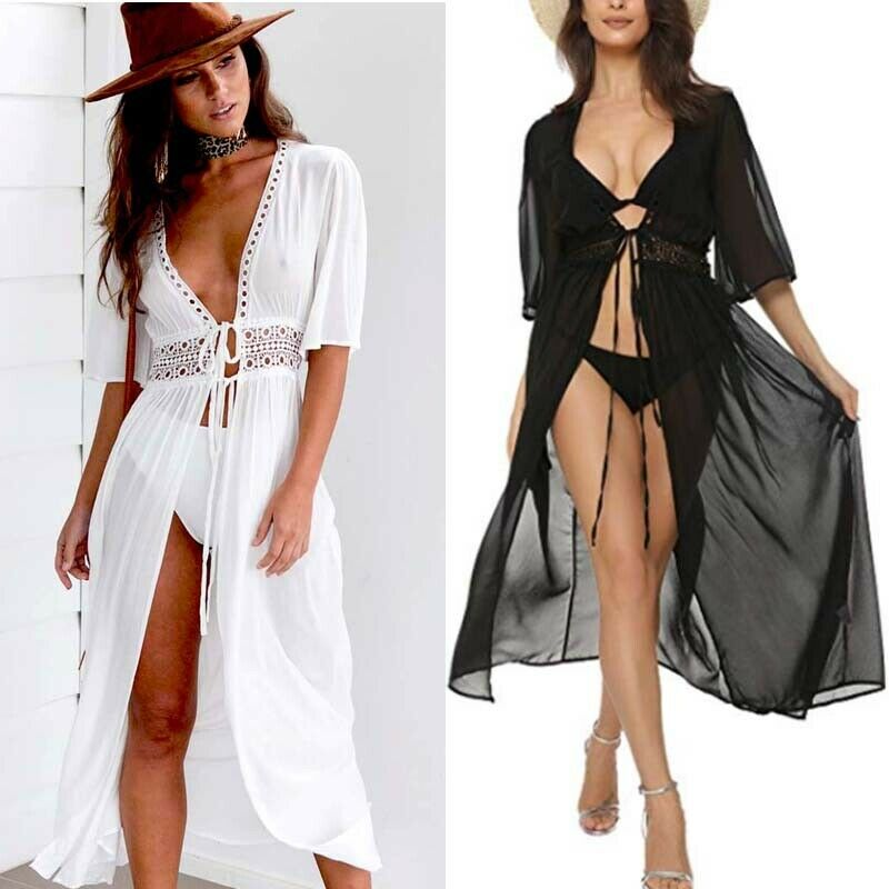 New Hot Sexy Hippie Boho Womens Summer Evening Cocktail Party Beach Long Maxi Beach Swimming Long Dress S M L XL