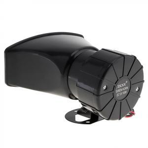 Image 5 - 12v 7 音トーンラウド車の警告警報警察消防サイレンホーン 100 ワット自動スピーカー黒ワイヤレスリモコン