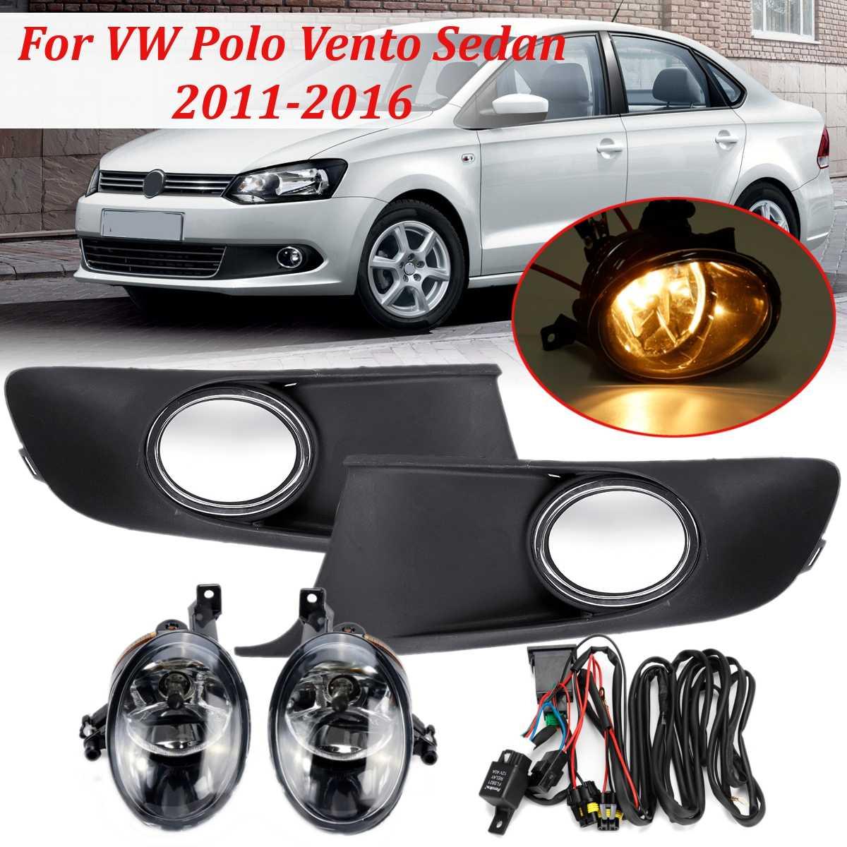 Fog Light Fog Lamp Fog Light Car Light Cover And Harness Assembly For VW Polo Vento Sedan Saloon 2011 2012 2013 2014 2015 2016