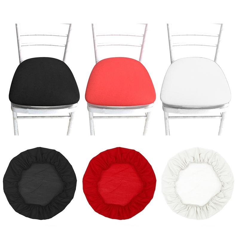 Removable Elastic Stretch Slipcovers Spandex Chair Seat Covers Solid Modern Style Office Dining Chair Covers Red Black White
