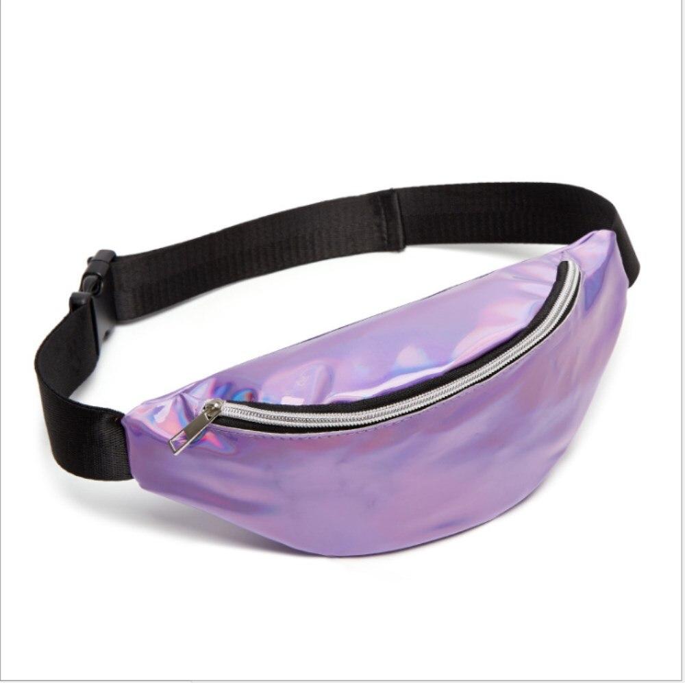 Sequin Casual Women Waist Bag Fanny Pack Running Zip Belt Money Pouch Holiday Bag