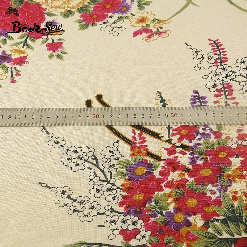 """Pure Cotton Indian Material Floral Pattern 41"""" Width Pink Fabric By The Metre"""