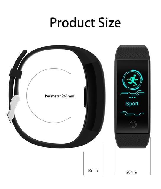 Pulseira inteligente ip68, à prova d água, monitor de freqüência cardíaca, sono, esportes, medidor de fitness, rastreador bluetooth, smartwatch.