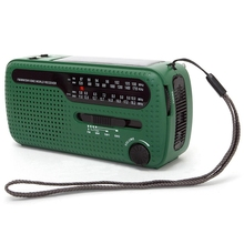 De13 Portable Fm Am Radio Solar Emergency World Receiver Hand Crank Power Outdoor Chargin