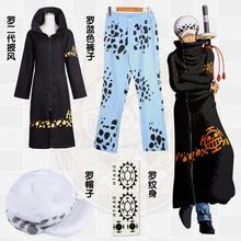 Anime giapponese One Piece Cosplay Trafalgar Law Cosplay Costume Con Cappuccio Commercio Allingrosso di 2 Anni Più Tardi