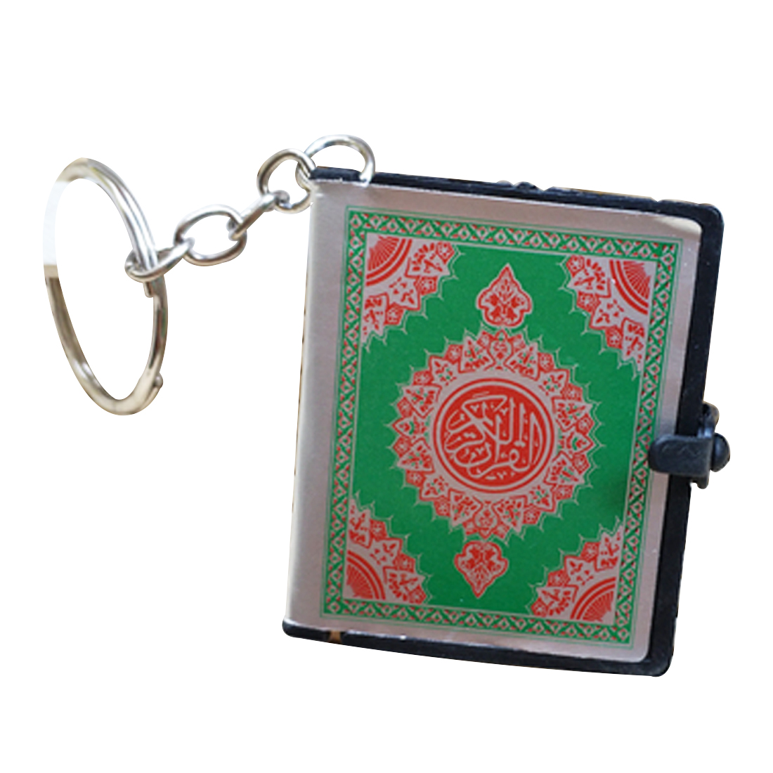 Image 4 - Cute Mini Arabic Quran Islamic Keychain Women Allah Real Paper 