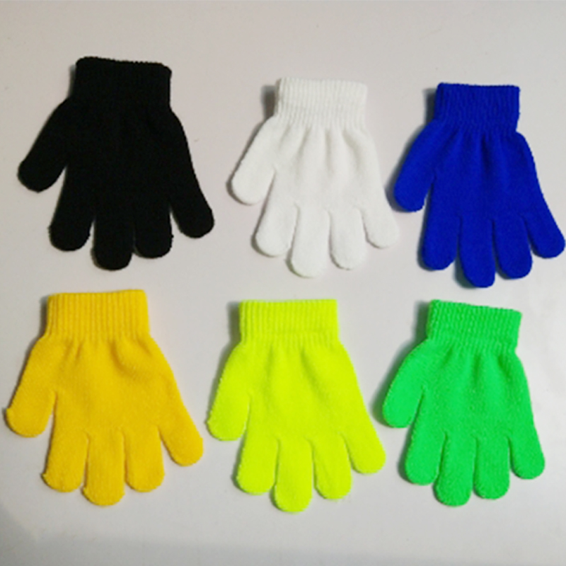 Popular1PC Student Windproof Knitting Child Lovely Magic Gloves Autumn And Winter Keep Warm Solid Color Gloves Free Shipping