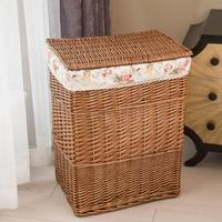 Dirty Clothes Home Storage Basket Large Storage Box Wicker Mesh Laundry Bag Laundry Hamper With Lid