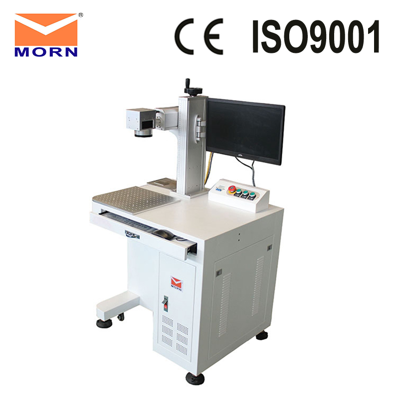 CNC fiber metal engraving laser marking machine with aluminum working table