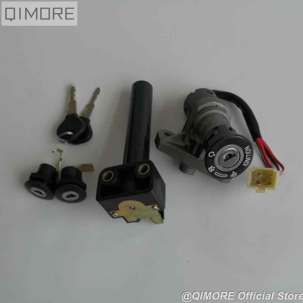 Alomejor 2 Piezas Cerradura del Interruptor De Encendido Y Juego De Llaves Triciclo De Arranque Scooter El/éctrico Reemplazo