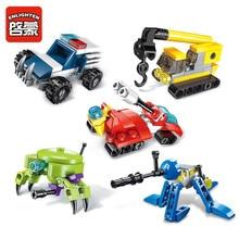 10PCS Super Deformation Engineering Team Building Blocks Bricks Model Kids Childrens Toys Gift