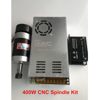 CNC Spindle Brushless 400W ER11 Collet Spindle Motor + Switching Power Supply + Motor Driver