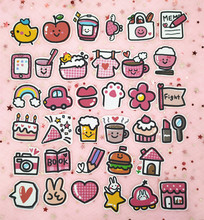 35pcs / Pack Ins Vintage Girl Life Travel Sticker Bag Hand Account Album Decoration Cute Notebook Diary Phone Stickers