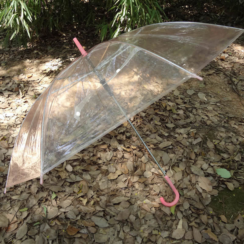 Colorful Transparent Automatic Rain Umbrella Dome Wedding Party Favor Waterproof