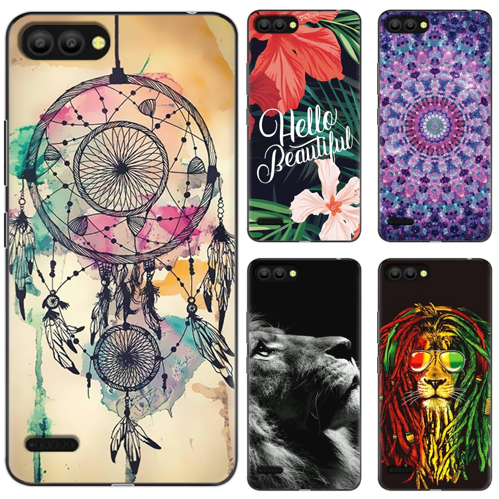 US $0 93 25% OFF|New Arrival Phone Case For Itel P13 Fashion Design Art  Painted TPU Soft Case Silicone Cover-in Fitted Cases from Cellphones &