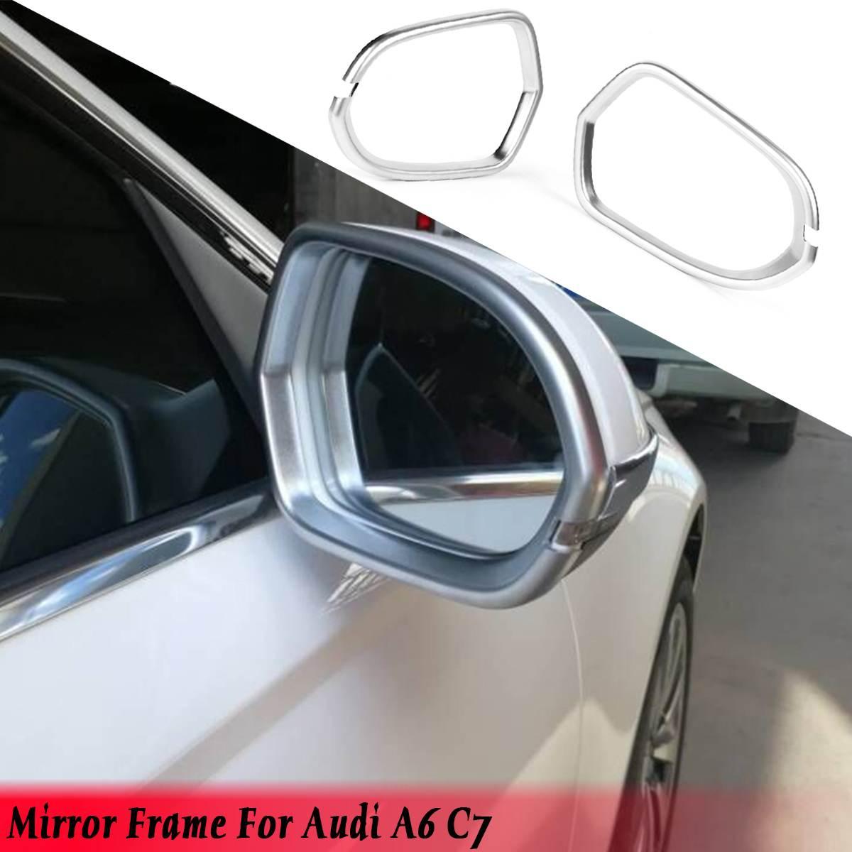 1 Pair Chrome Door ABS Rearview Mirror Decorator Frame Cover Trim For Audi A6 C7 2012 2013 2014 2015 2016 2017 Cover Sticker1 Pair Chrome Door ABS Rearview Mirror Decorator Frame Cover Trim For Audi A6 C7 2012 2013 2014 2015 2016 2017 Cover Sticker