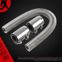CARCHET 24 Car Air Intake System Parts Flexible Stainless Steel Upper and Lower Cooling Water Pipe Hose Car Accessories