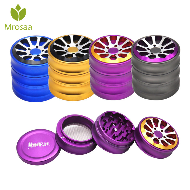 Mrosaa 56mm Aluminum Alloy Herbal Herb Tobacco Grinder Spice Grinders 3 Layers Crusher Smoking Pipe Accessories Smoke Cutter