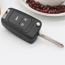 2019 New Car Folding Key Case 3 Button Shell Replacement Flip Remote Auto for Chevrolet Cruze