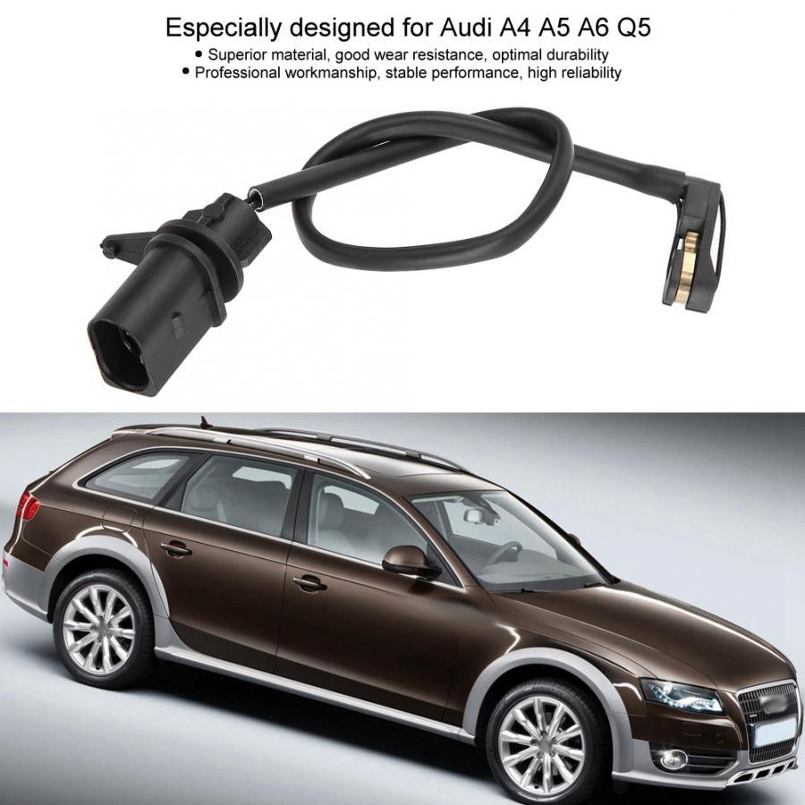 X AUTOHAUX 8W0615121E Front Brake Pad Electronic Wear Sensor Brake Pad Wear Indicators for Audi A4 Quattro A5 Quattro