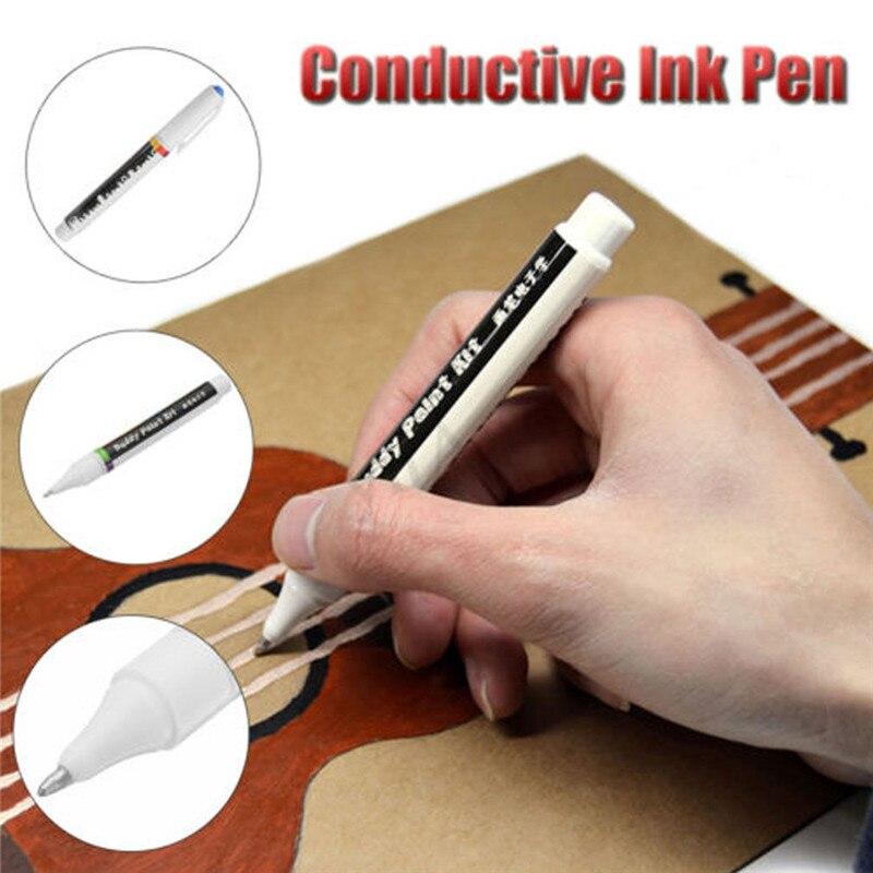 Diy elétrica luz caneta ferramentas desencapado pintura elétrica condutora elétrica cola solda caneta condução pcb reparação