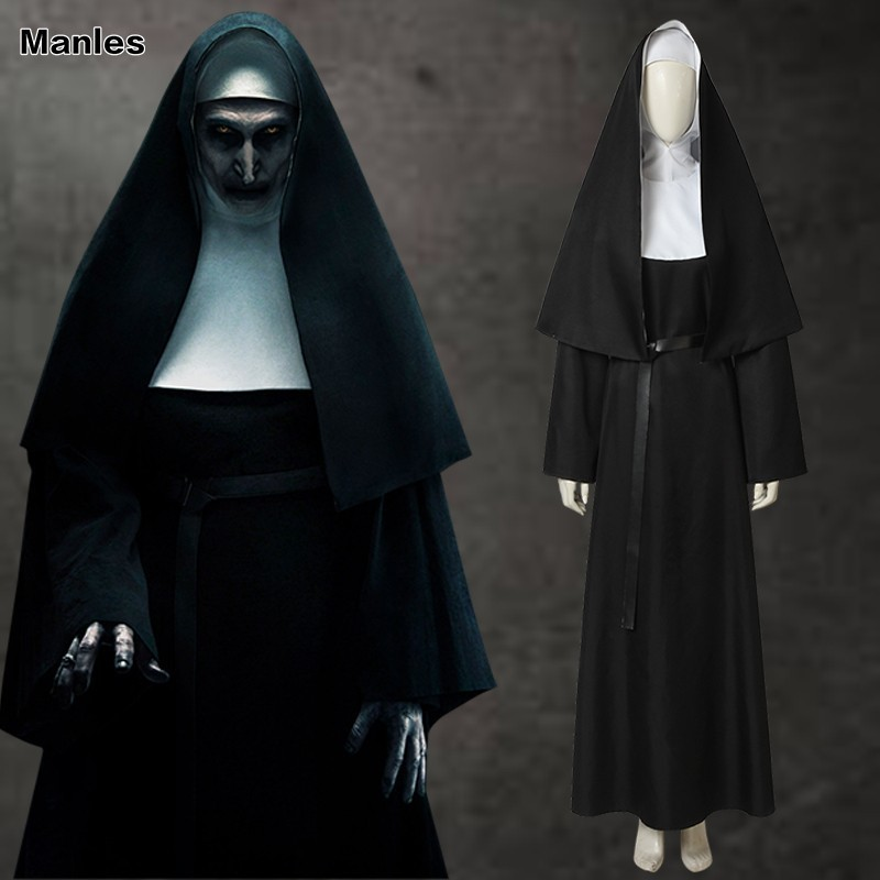 The Nun Valak Movie Costume Religion Monk Ghost Catholic Cosplay Virgin Black Nun Fancy Dress Halloween Adult Custom Made